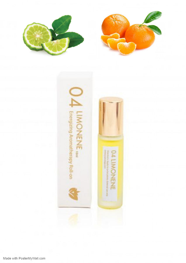 Orange, Mandarin & Bergamot Energizing Aromatherapy Fragrance Roll-on Essential Oil  -Energizing,  Headache Relief- Reduces Stress, Tension - Briseis Beauty
