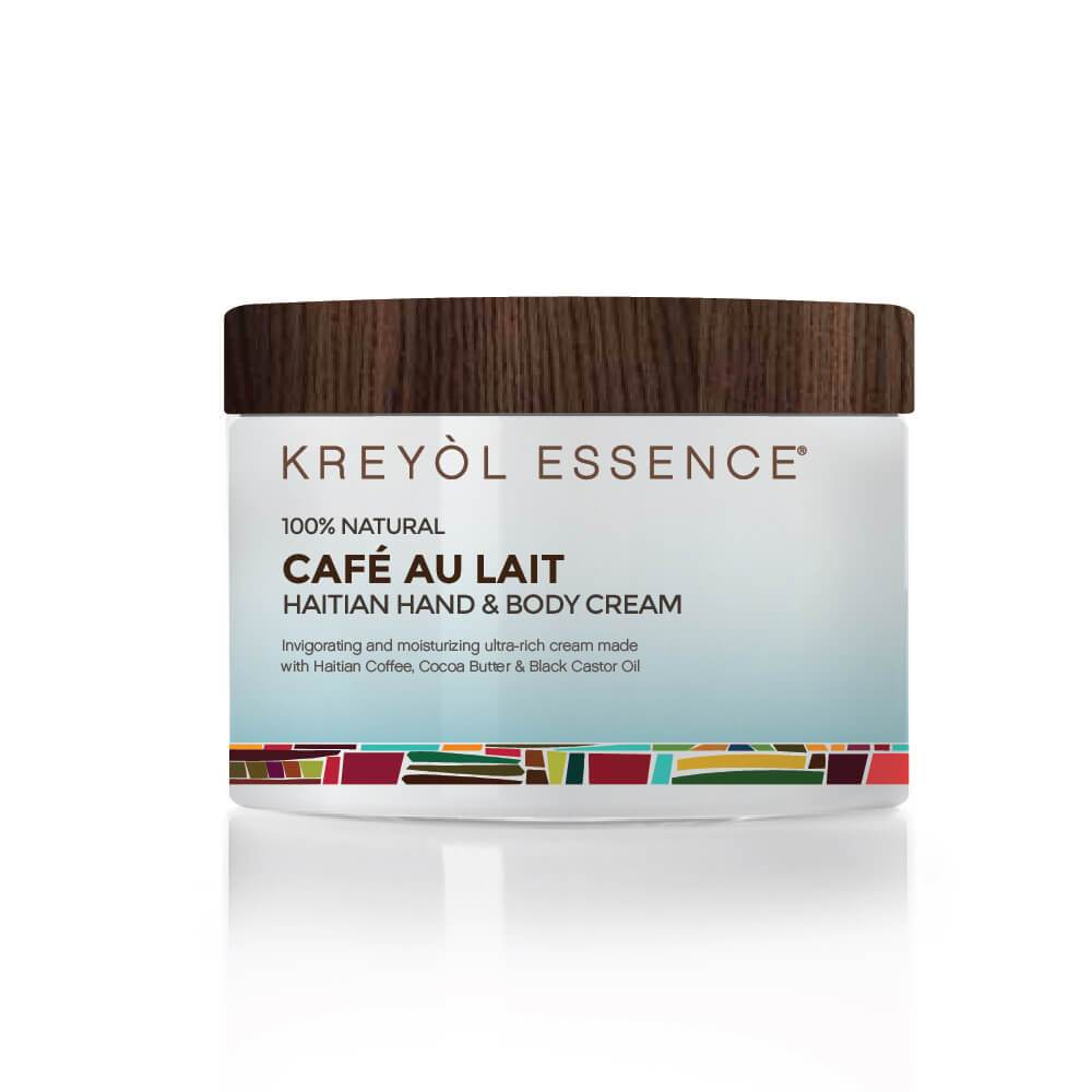 "%100 Natural French Coffee ""Cafe Au Lait"" Triple Whipped Cream (Body&Hands) 2 oz - Briseis Beauty"