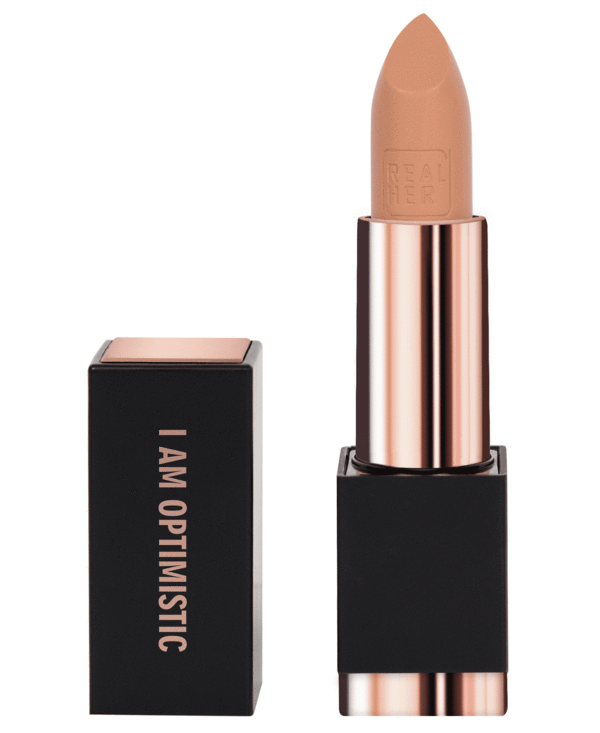 I Am Optimistic - Peachy Nude Matte Lipstick - Briseis Beauty