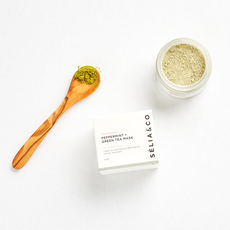 (Brightens) Peppermint + Green Tea Mask - Briseis Beauty