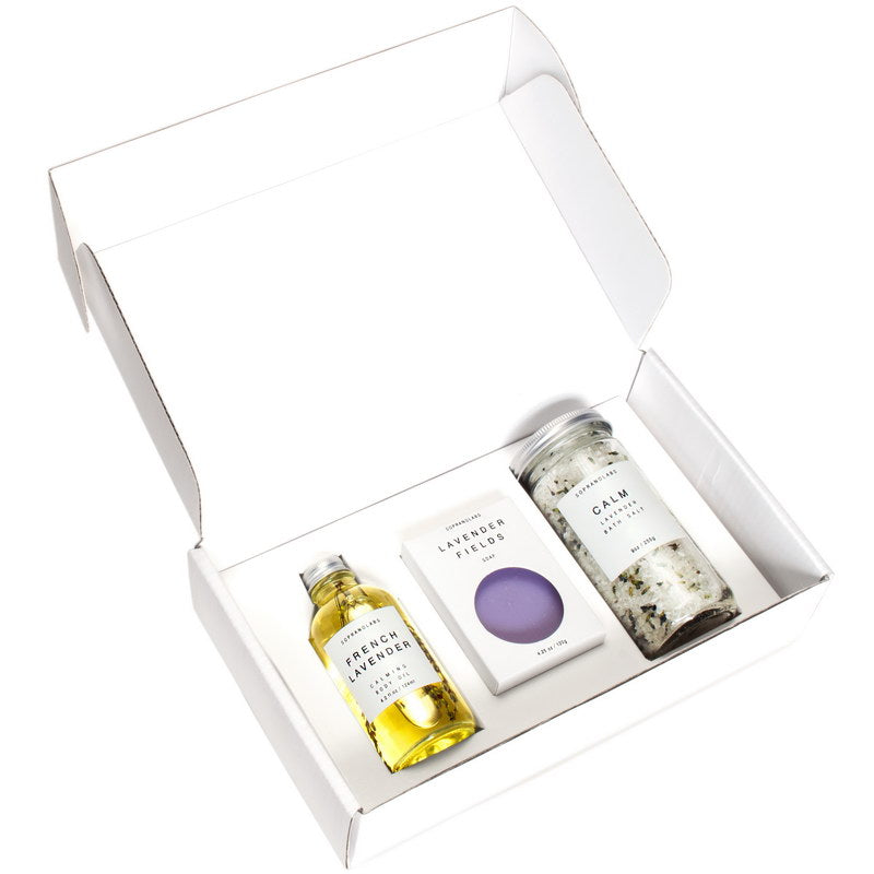 Calm Lavender Essential Kit. All Natural SPA Gift Kit. - Briseis Beauty