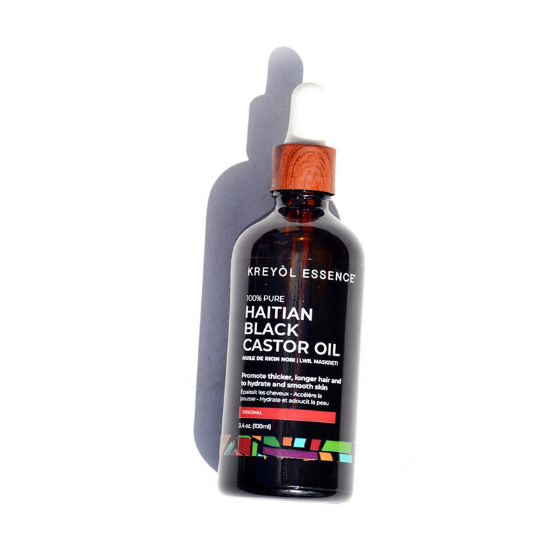 Haitian Black Castor Oil  Original 100% Natural  3.4oz - Briseis Beauty