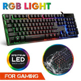 USB Wired Mechanical Gaming Keyboard with LED Backlight