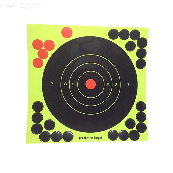 Fluorescent Paper Half Ring Personal Silhouette Paper Humanoid Shooting Target Paper Square
