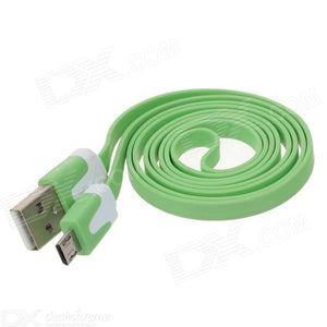Flat Micro USB Male to USB 2.0 Male Data Sync / Charging Cable for Samsung + More -(100cm)