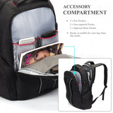 DTBG D8231 17.3 Inch Stylish Travel Business Laptop Backpack with USB Charging Port, Anti-theft Pockets for Women Men