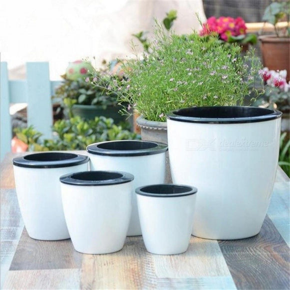 Automatic Water-Absorbing Flower Pots Bonsai Creative Multi-Meat Plant Hydroponic Potted Large Plastic Flower Pots 90