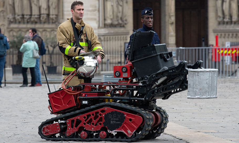 Firefighting robots going where no man can go. Literally.