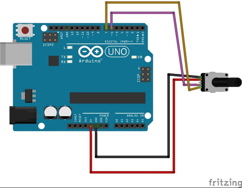 Rotary encoder arduino connections