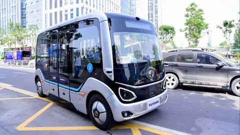 Chinese self-driving bus