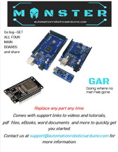 Load image into Gallery viewer, Automation & Robotics Nano Uno Mega Monster Starter Kit for Arduino