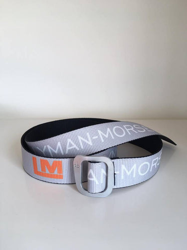 Lyman-Morse D-Ring Adjustable Belt - Light Grey/Orange