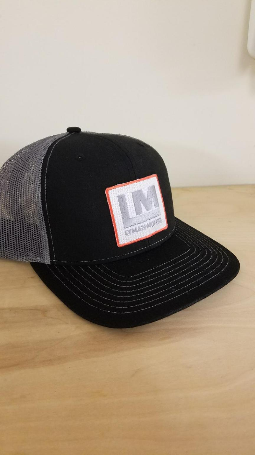 Snapback Trucker Hat Black/Gray LM Patch