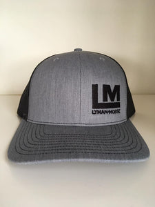 Snapback Trucker Hat - Gray/Black - Embroidered