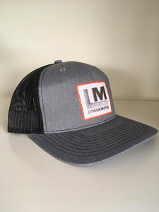 Snapback Trucker Hat - Gray/Black - LM Patch