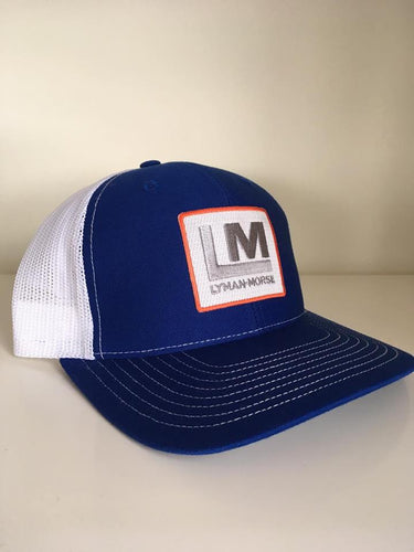 Snapback Trucker Hat - Royal blue/White - LM Patch