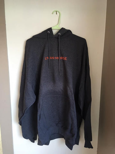 Logo Drawstring Hoodie - Dark Grey/Orange