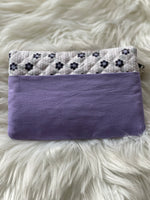 White/Purple notions pouch