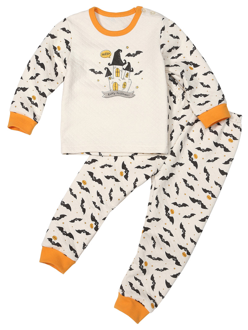 Toddler Two-Piece Quilted Thermal Pajama Set - HiOrganic