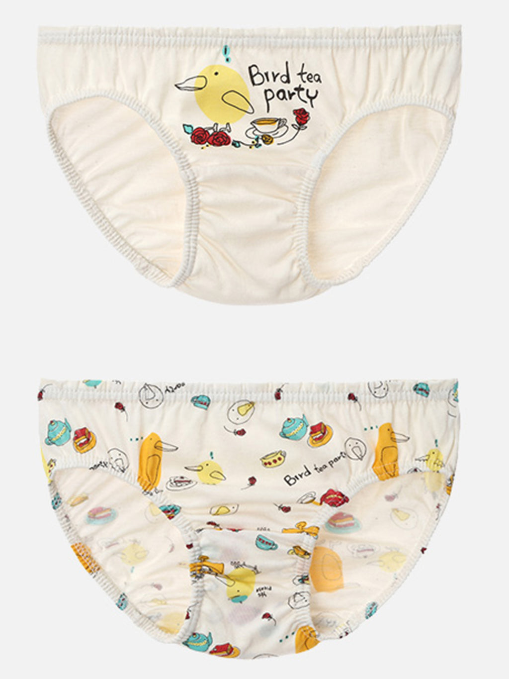 Toddler girls Briefs 2 Pack - HiOrganic