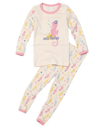 Girl's Slim Two-Piece Long Sleeve and Long Bottom Pajama Set 12M-8 - HiOrganic