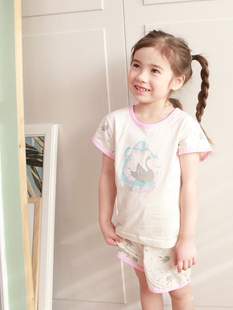 Toddler Two-Piece Short Sleeve and Shorts Pajama Set