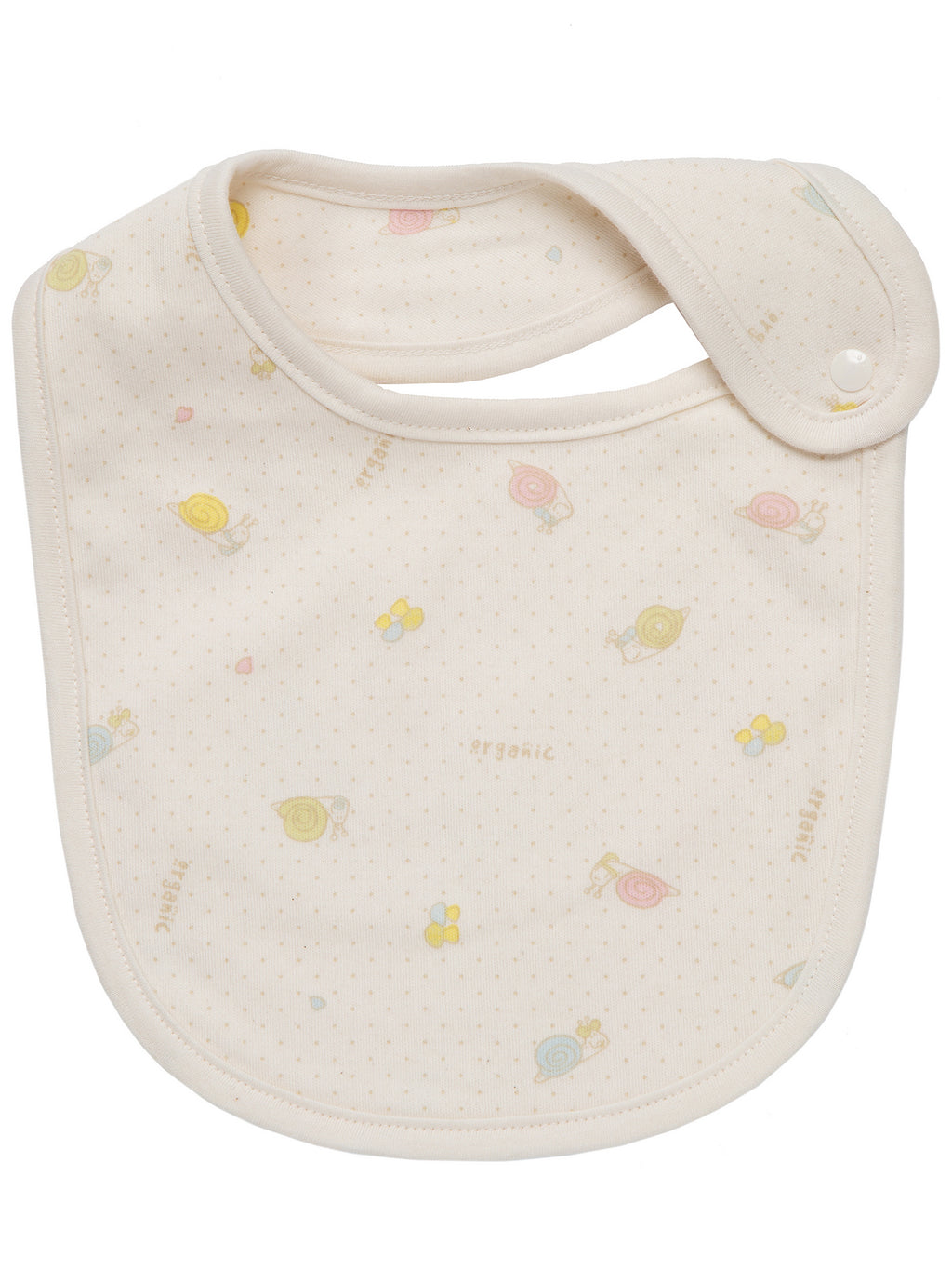 Infant Toddler Absorbent Snap Button Bib - HiOrganic