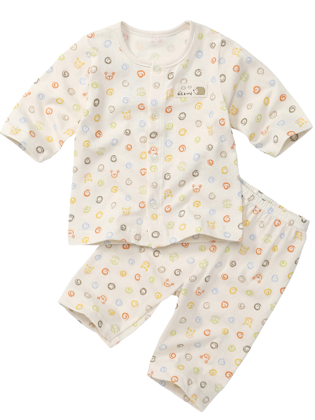 Infant 3/4 Sleeve and Capri Two-Piece Pajama Set - HiOrganic