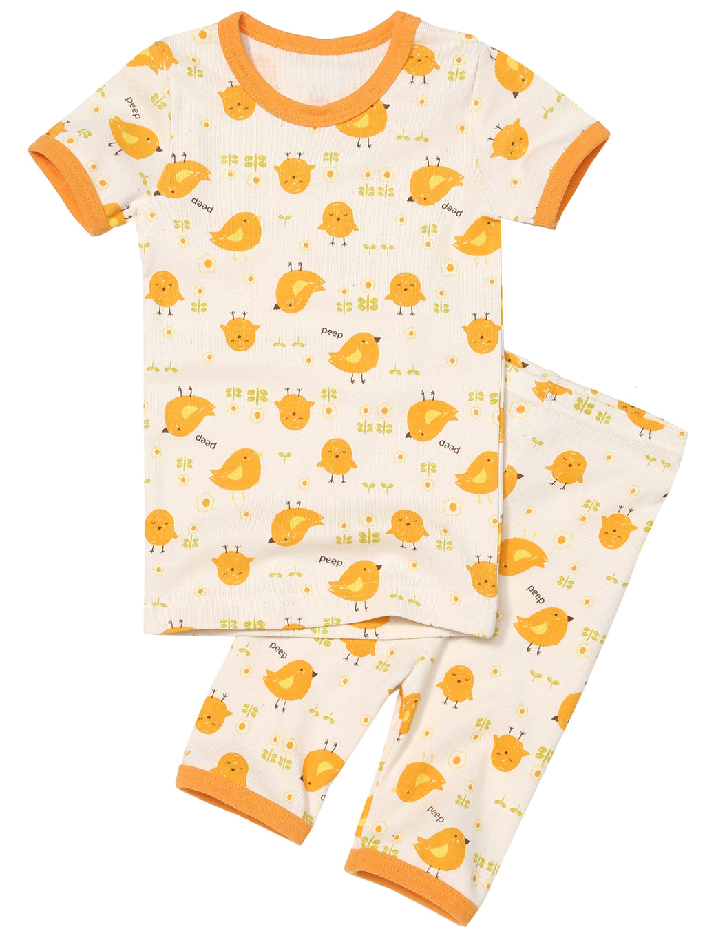 Toddler Two-Piece Short Sleeve and Capri Bottom Pajama Set - HiOrganic