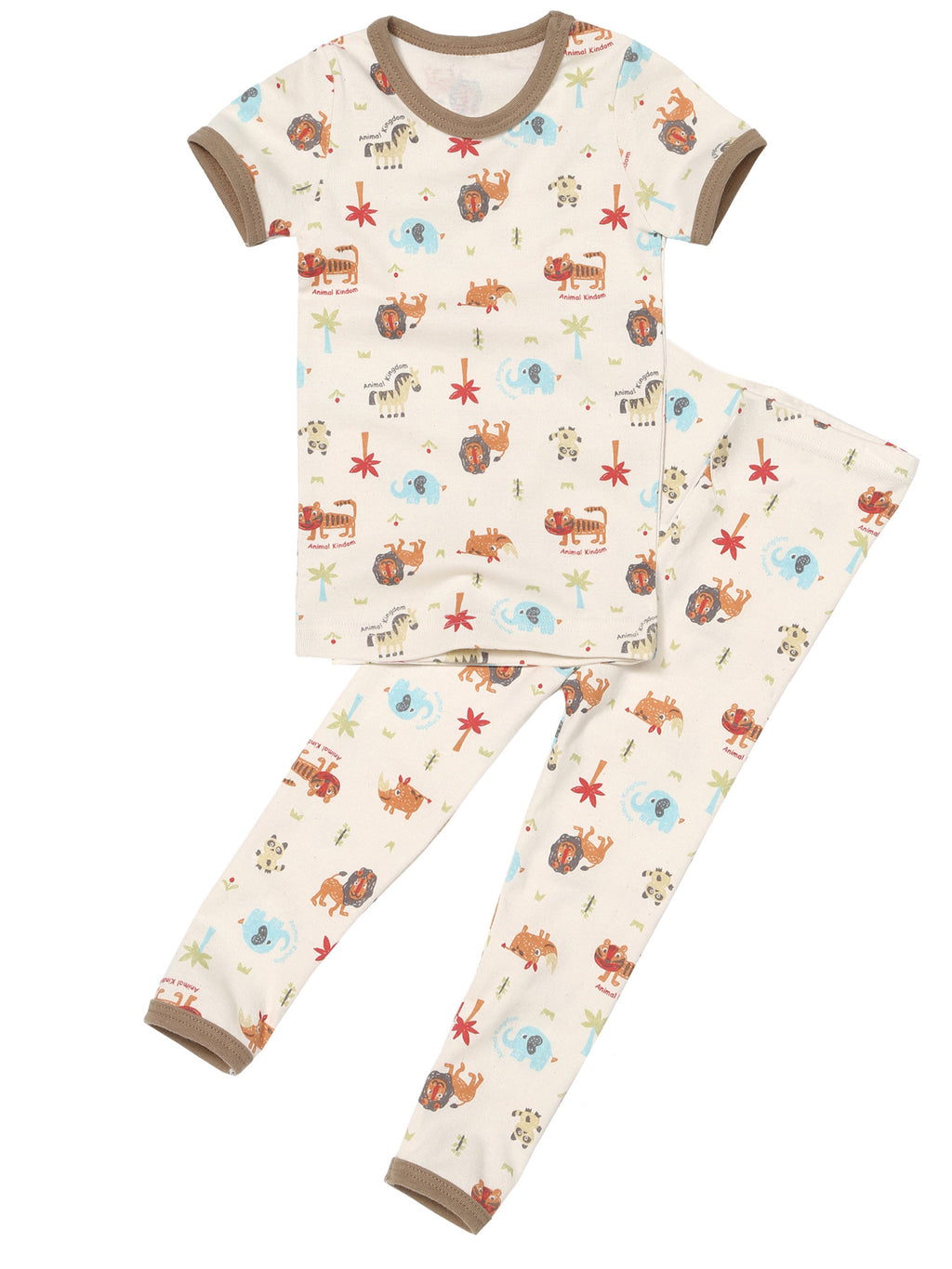 Toddler Two-Piece Short Sleeve and Long Bottom Pajama Set - HiOrganic