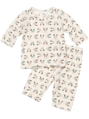 Infant Toddler Two-Piece Front Closure 3/4 Pajama Set - HiOrganic