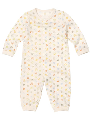 Infant Long Sleeve Front Snap Closure Romper - HiOrganic