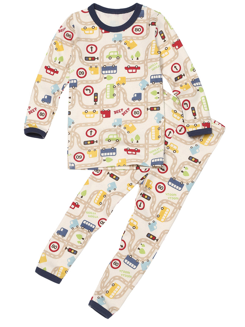 Toddler Two-Piece Long Sleeve and Long Bottom Pajama Set - HiOrganic