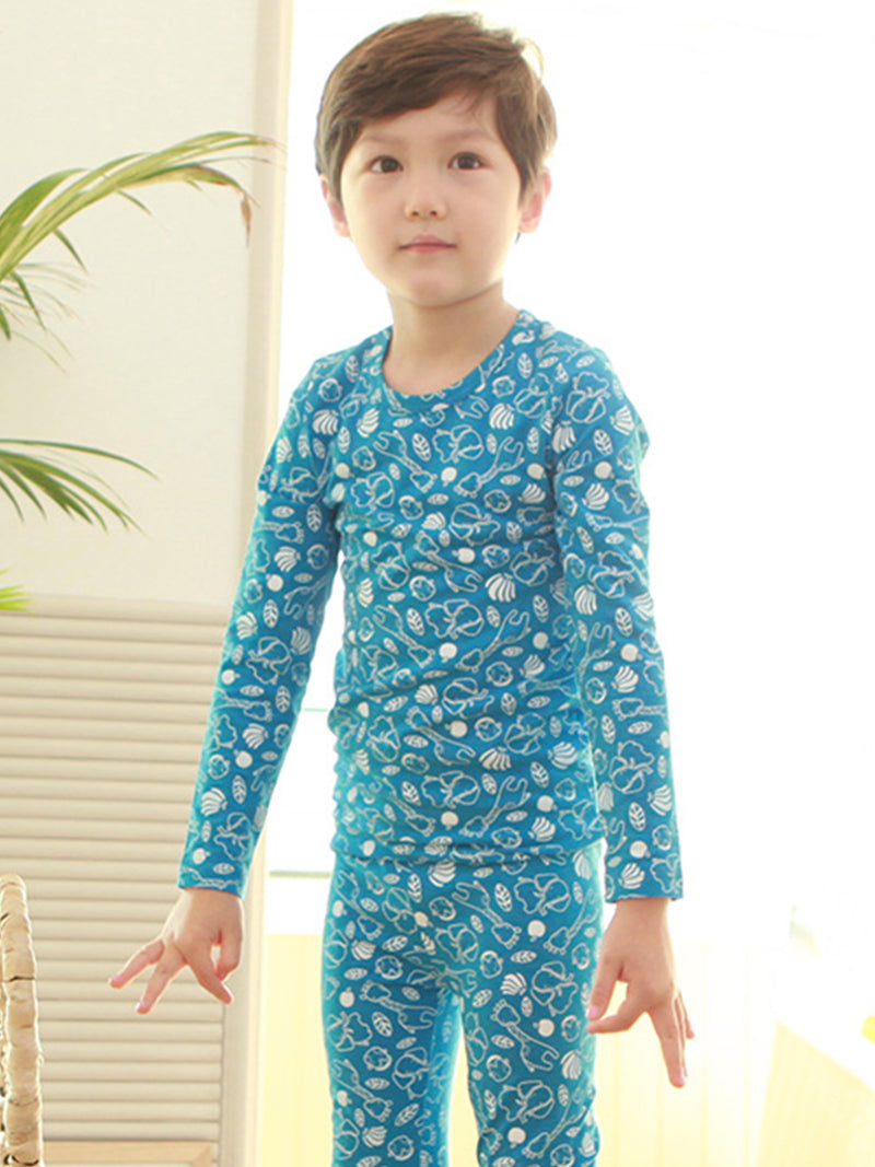 Toddler Two-Piece Long Sleeve and Long Bottom Thermal Set 12M-8 - HiOrganic
