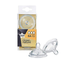 Tommee Tippee Closer to Nature Medium Flow Soft Silicone Anti-Colic Teats x 2