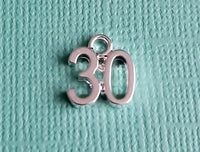 30th birthday charms