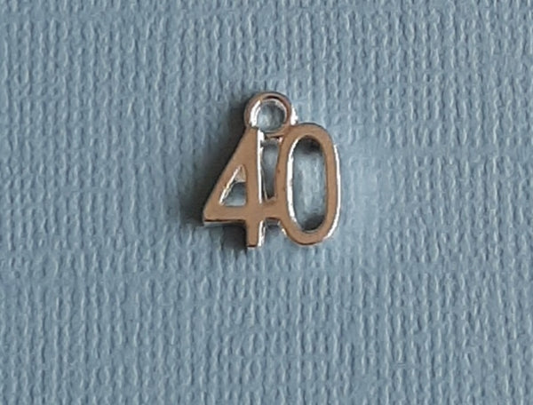 40th birthday charms