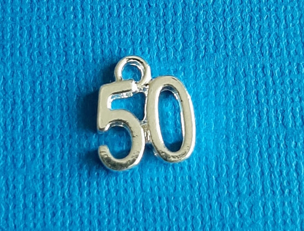 50th birthday charms