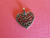 filigree heart charms