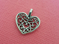 filigree heart charms 2