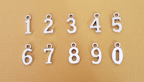number charms set