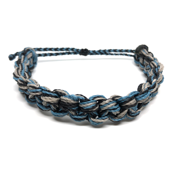 Image of Monster Knot Bracelet - blue grey black