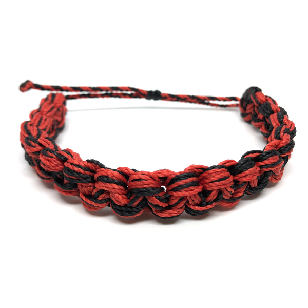 Image of Monster Knot Bracelet - black red