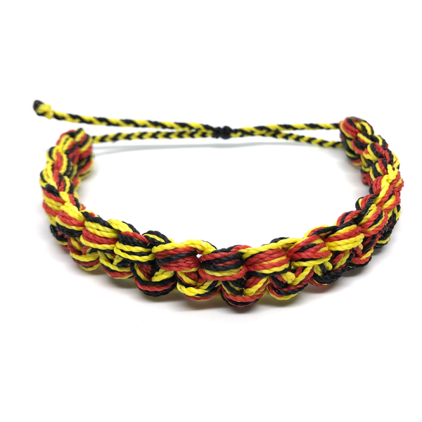 Image of Monster Knot Bracelet - yellow black red