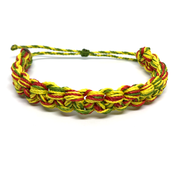 Image of Monster Knot Bracelet - yellow green red
