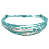 "image of multilayer bracelet ""silver lining"" mint"