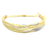 "image of multilayer bracelet ""silver lining"" yellow"