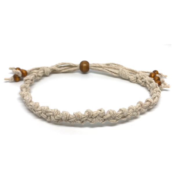 Single Hemp Bracelet - Double Knot