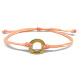 Strong - Circle Charm Bracelet - Peach