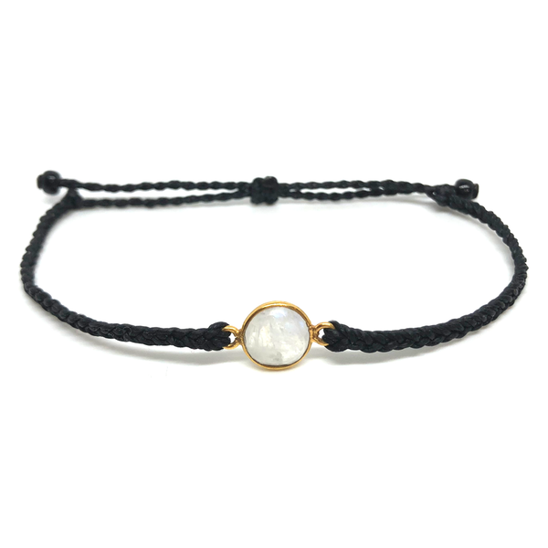Gemstone Bracelet - Mini Moon - Black